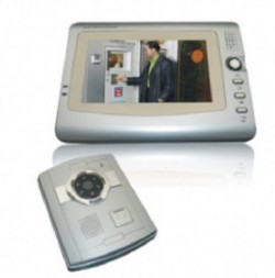 "VIDEOCITOFONO TELECAMERA 6 LED IR MONITOR 7"" LCD COLORI"