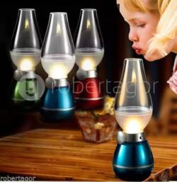 LAMPADA LED EFFETTO FIAMMA CON ACCENSIONE A SOFFIO RICARICABILE USB