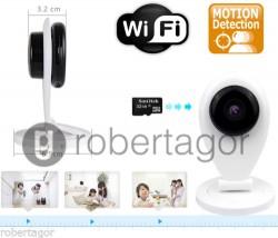 TELECAMERA WIFI VIDEOSORVEGLIANZA IP CAMERA LAN LED P2P INFRAROSSI IR MICRO SD