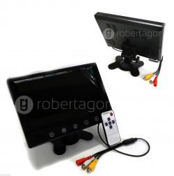 """MONITOR LCD DIGITALE 9"""" TELECOMANDO PER VIDEOSORVEGLIANZA"""