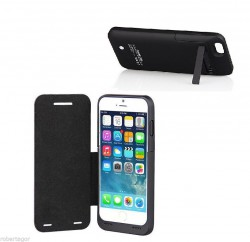 FLIP COVER CON STAND POWERBANK PER IPHONE 6 3500 mAh NERA