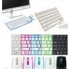 Kit Tastiera Qwerty (in alluminio) con Mouse Wireless e Ricevitore per Pc Notebook Win 8