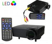 MINI VIDEOPROIETTORE LED HDMI VGA PER PC USB DVD DIVX PORTATILE