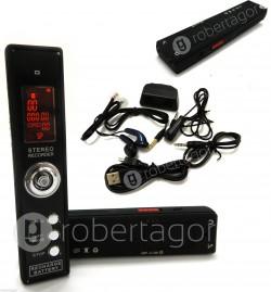 MINI REGISTRATORE SPIA DIGITALE 8 GB USB A COMANDO VOCALE TELEFONICO