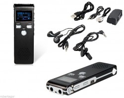 Mini Registratore Digitale da 8 GB vocale e telefonico ricaricabile