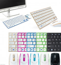Kit Tastiera Qwerty (in alluminio) con Mouse Wireless e Ricevitore per Pc Notebook Win 8